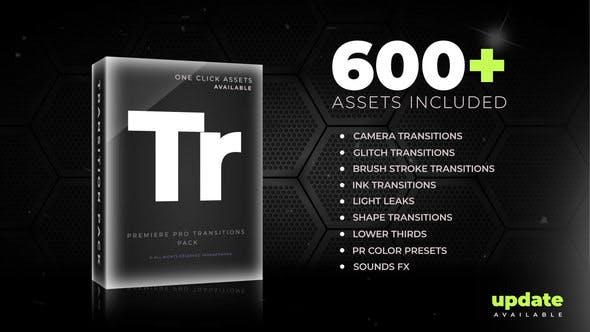600+ Pack: Transitions, Light Leaks, Color Presets, Sound Fx