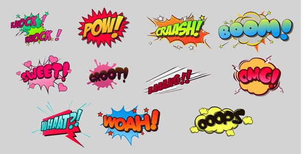 Comic Bubbles Pack