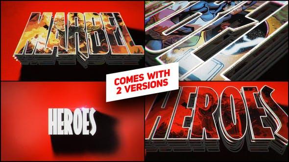 Heroes Logo Intro