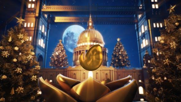 Golden Christmas In Vatican