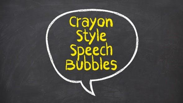 Crayon Style Speech Bubbles