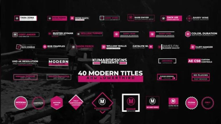 40 Modern Titles And Lowthird