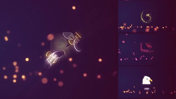 Bouncing Particles Logo Pack