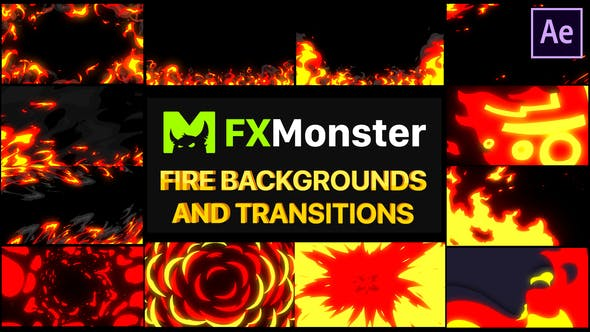 Fire Backgrounds And Transitions
