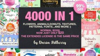 4000 In 1 Graphic Bundle Super Sale