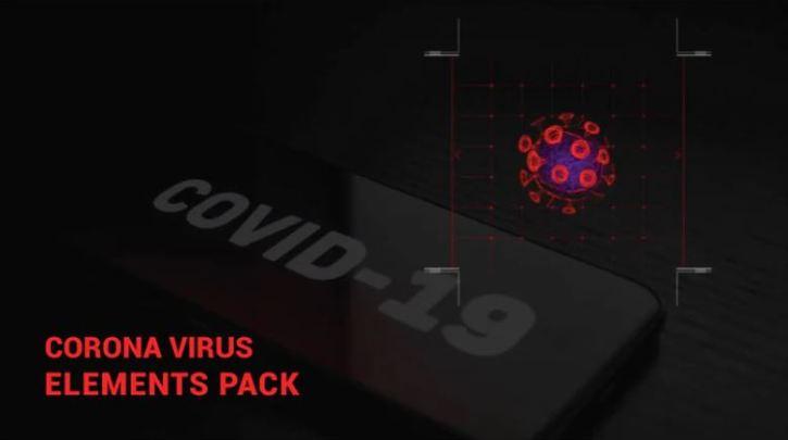 Corona Virus Elements Pack