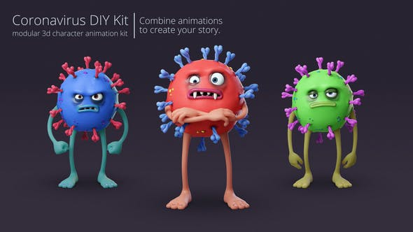 Coronavirus Character Animation DIY Kit