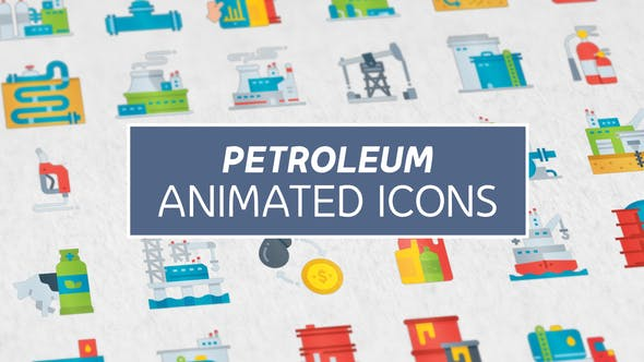 Petroleum Modern Flat Animated Icons