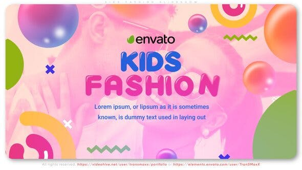 Kids Fashion Slideshow