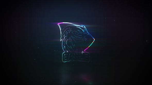 Neon Glass | Glitch Logo Reveal