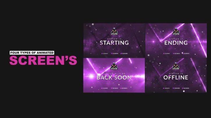 Stream Package – Overlays, Screens V4