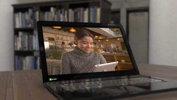 Animation 3D Laptop