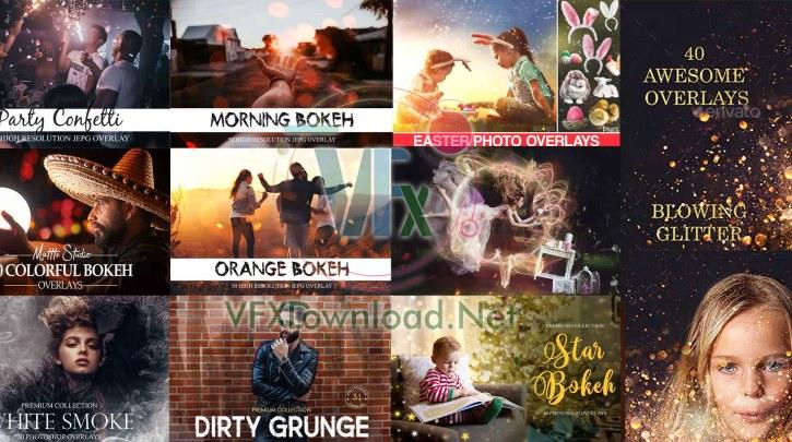 DesignBundles & CreativeMarket - 10 Premium Photoshop Overlays