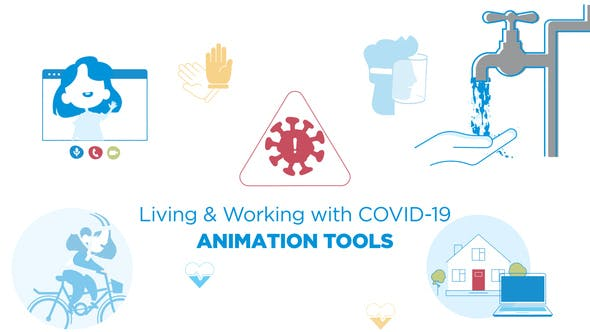 Living & Working with COVID-19 – Animated graphic
