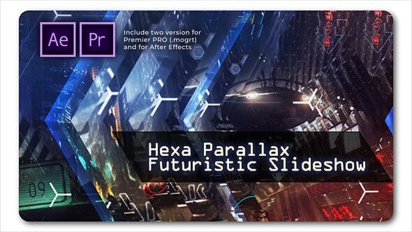 Hexa Parallax   Futuristic Slideshow