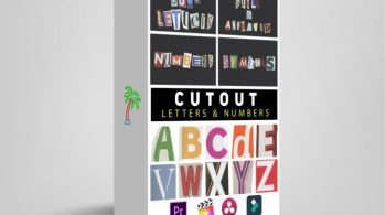 Tropic Colour – Cutout Letters & Numbers