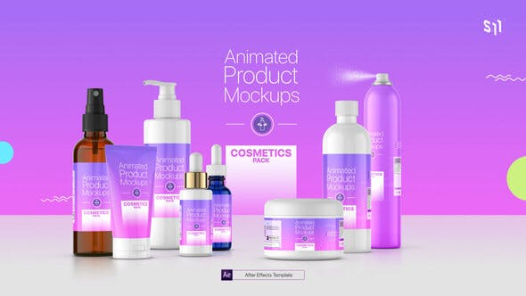 Animated Product Mockups - Cosmetics Pack