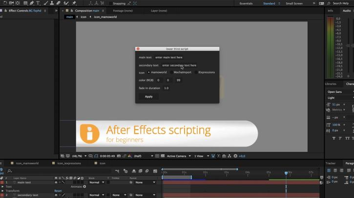 FXPHD – AFX226 Scripting in After Effects