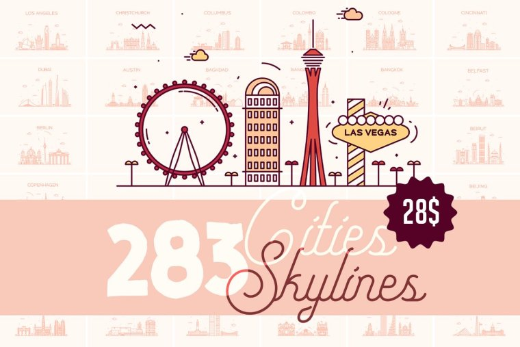 CreativeMarket Big Collection of Cities Skylines 1928127