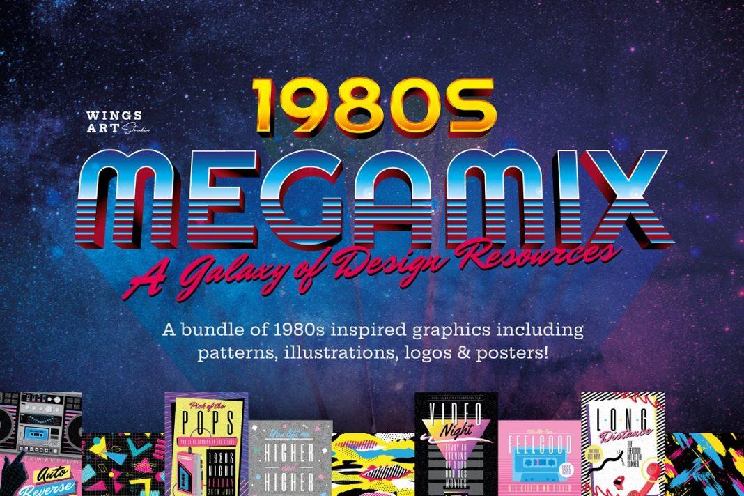 CreativeMarket The Complete 1980s MegaMix Bundle! 1825472