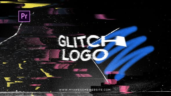 Glitch Distortion Logo Intro