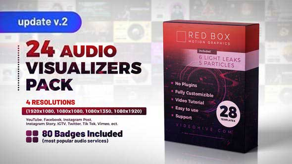 Audio Visualizers Pack V2