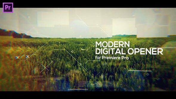 Modern Digital Opener for Premiere Pro