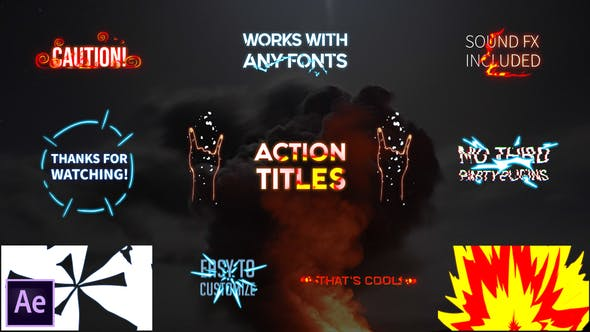 Action Titles Pack | After Effects