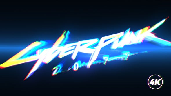Fast Glitch Logo Intro
