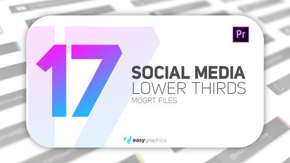 Elegant Social Media Lower Third