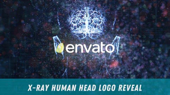 X-Ray Human Head Logo Reveal