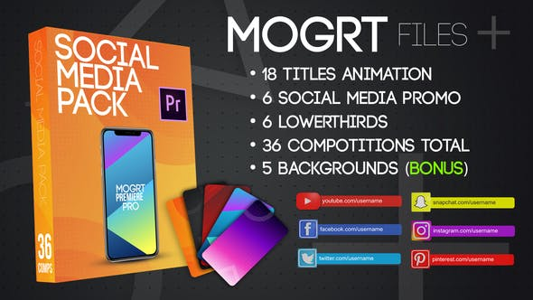 Social Media Pack MOGRT