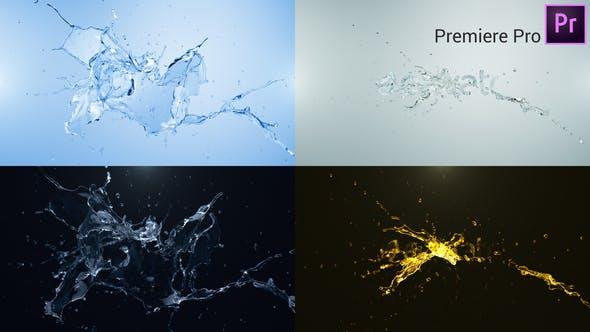 Water Splash Logo Reveal Premiere Pro