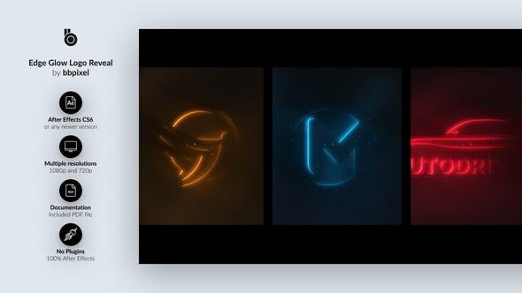 Edge Glow Logo Reveal