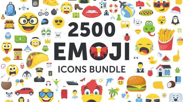 CreativeMarket 2500 Emoji Icons Bundle 2065490