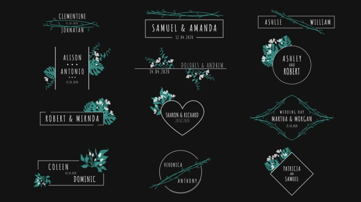 Wedding Titles Pack - Project for After Effects