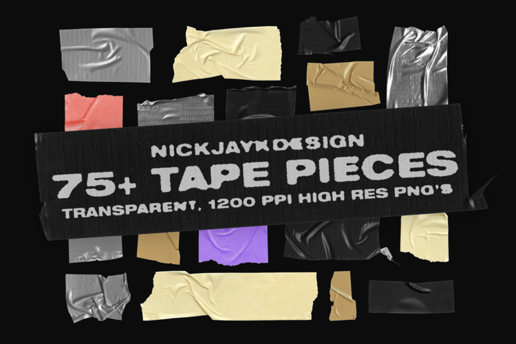Tape Pieces – 75+ Transparent PNGs