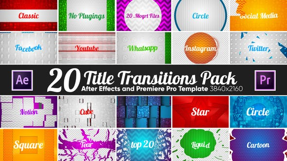 20 Title Transitions Pack