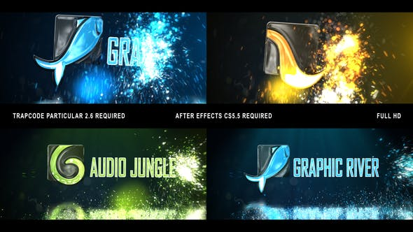 Glowing Particals Logo Reveal 32