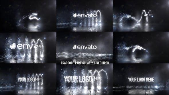 Glowing Particals Logo Reveal 37: Silver Particals 02