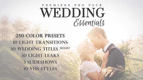 Wedding Essentials Pack for Premiere Pro