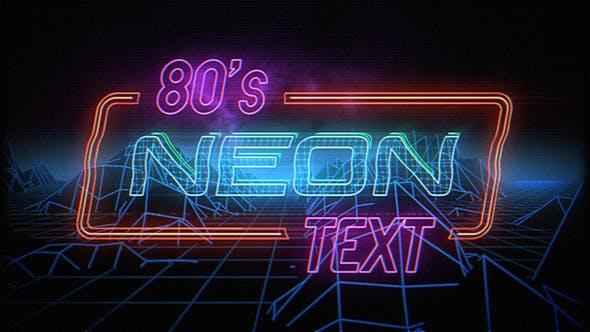 Retro Neon Titles