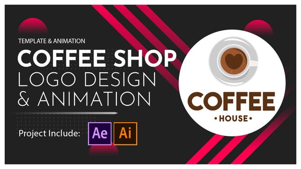 Coffee Shop Logo Design and Animation