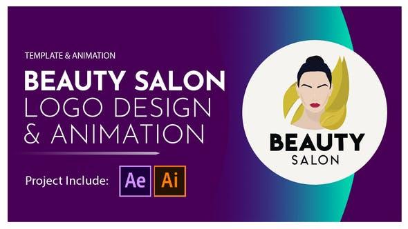 Beauty Salon Logo Design and Animation