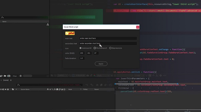 FXPHD – AFX303 Advanced Scripting for After Effects, Part 1