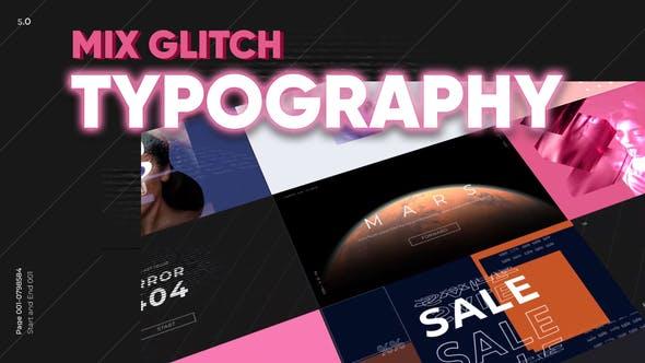 Mix Glitch Typography