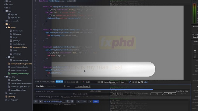 FXPHD – AFX304 Advanced Scripting for After Effects, Part 2