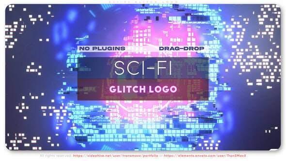 Sci-Fi Glitch Logo