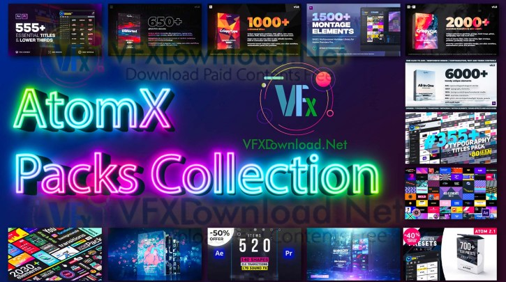 AtomX Packs Collection 2021 Updates