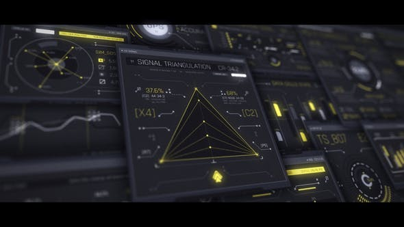 Videohive Interceptor 100 UI HUD Screens